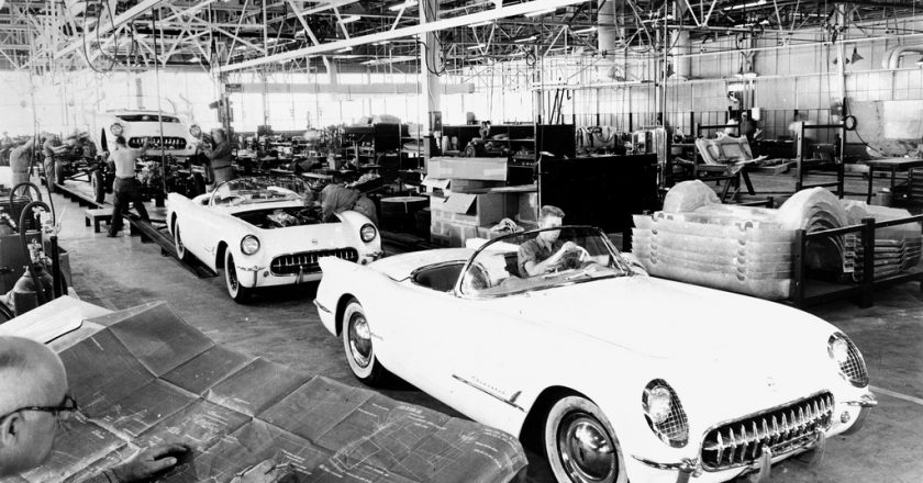 June 30, 1953 – The first production Corvettes leave the factory