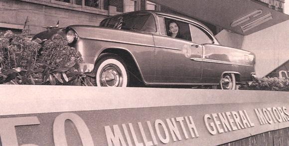 November 23, 1954 – The 50 millionth General Motors car is produced