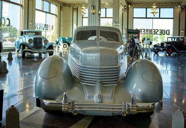 July 19, 1934 – Patent filed for retractable headlights for Cord
