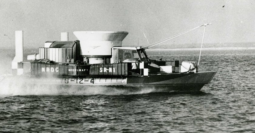 July 25, 1959 – A hovercraft crosses the English Channel